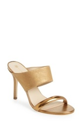Trina Turk 'Larabee' Suede And Patent Leather Slide Sandal Women Metallic
