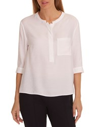 Betty And Co. Fine Textured Blouse Bright White
