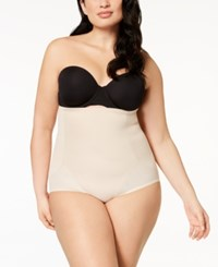 Miraclesuit Cool Choice Plus Size Extra Firm Control High Waist Brief 2405 Nude