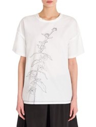 Jil Sander Embroidered Cotton Tee White