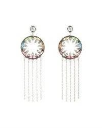 Dannijo Zahra Crystal Statement Earrings Multi