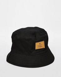 Asos Bucket Hat In Black With Patch Black
