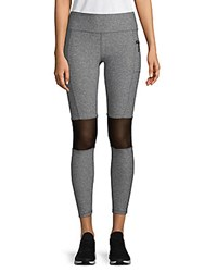 X By Gottex Power Mesh Moto Leggings Grey