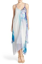 Women's Charlie Jade Georgette Handkerchief Hem Maxi Dress