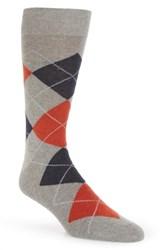 Lorenzo Uomo Argyle Socks Light Grey