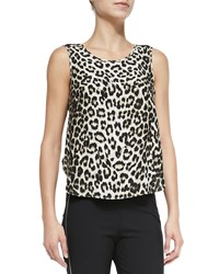 Rag And Bone Fleet Sleeveless Leopard Print Top