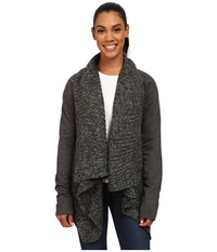 Prana Demure Cardigan Charcoal Women's Sweater Gray