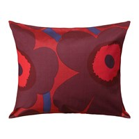 Marimekko Unikko Pillowcase Red Plum