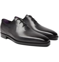 Berluti Leather Oxford Shoes Black