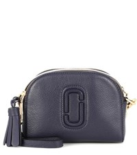 Marc Jacobs Shutter Small Leather Crossbody Bag Blue