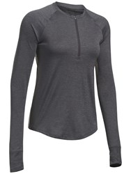 Under Armour Fly By Half Zip Long Sleeve Training T Shirt Grey