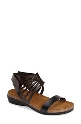Naot Footwear Women's Naot 'Mint' Sandal Dark Brown Black