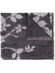 Elie Saab 'English Garden' Scarf Black