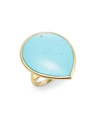 Ippolita Polished Rock Candy Turquoise And 18K Yellow Gold Teardrop Ring