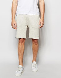 Asos Slim Shorts In Textured Fabric With Raw Edge Cream