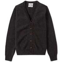 Jamiesons Of Shetland Jamieson's V Neck Cardigan Grey