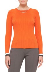 Akris Punto Women's Bicolor Rib Knit Wool Sweater