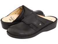Finn Comfort Aussee 82526 Black Leather Soft Footbed Women's Clog Shoes