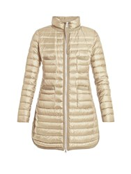 Moncler Bogue Quilted Down Coat Beige
