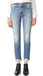 Mother The Flirt Fray Rigid Jeans Cold Feet