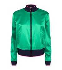 Juicy Couture Embroidered Bomber Jacket Female Green