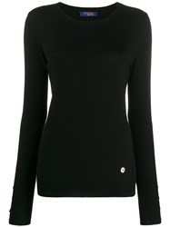 Trussardi Jeans Long Sleeve Button Cuff Top 60