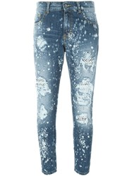 Marco Bologna Distressed Skinny Jeans Blue