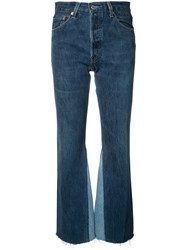 Re Done The Leandra High Rise Flared Jeans Blue