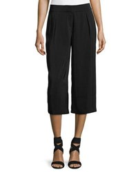 Laundry By Shelli Segal High Waist Pleated Culotte Pants Black