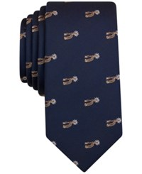 Bar Iii Men's Western Graphic Print Tie Only At Macy's Navy Spurs