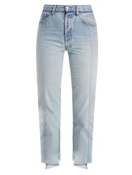 Vetements Reworked Straight Leg Cropped Jeans Denim