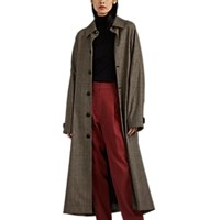 Oversized Prince Of Wales Trench Coat Brown