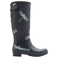 Joules Dragonfly Adjustable Waterproof Wellington Boots Navy