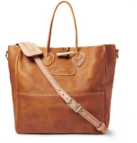 Yuketen Shoemaker Full Grain Leather Tote Brown