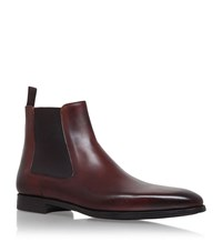 Magnanni Leather Chelsea Boots Male Brown