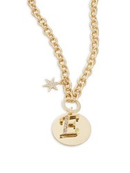 Design Lab Lord And Taylor Crystal Accented Initial Pendant Gold