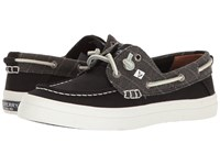 Sperry Crest Resort Heavy Linen Black Women's Lace Up Casual Shoes