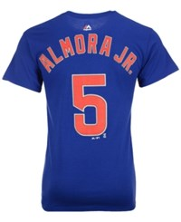 Majestic Men's Albert Almora Chicago Cubs Official Player T Shirt Royalblue