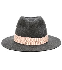 Maison Michel Rico Rabbit Felt Hat Grey