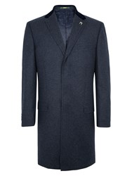 Paul Costelloe Men's Folly Check Coat Navy
