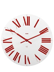 Alessi Firenze Wall Clock White Red