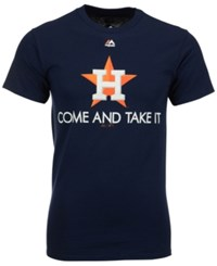 Majestic Men's Houston Astros Come And Take It T Shirt Navy
