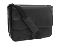 Kenneth Cole Reaction What A Bag 4 1 2 To 6 Single Gusset Expandable Computer Messenger Bag Black Nappa Lea Computer Bags