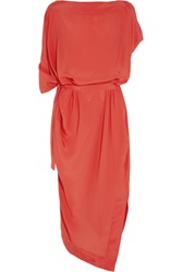 Vivienne Westwood Annex Draped Crepe Dress Red