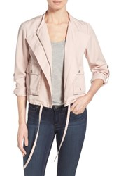 Women's Halogen Soft Collarless Jacket Pink Smoke