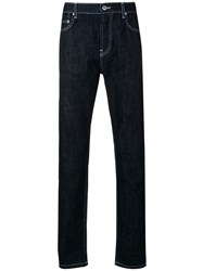 Kenzo Contrast Stitched Jeans Blue
