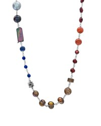 Stephen Dweck Multi Stone And Mixed Pearl Necklace
