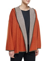 Eskandar Hooded Cashmere Blend Reversible Jacket