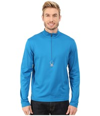 Spyder Silver Dip Dry W.E.B. T Neck Concept Blue Men's Long Sleeve Pullover