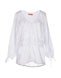 Manila Grace Denim Shirts Blouses Women White